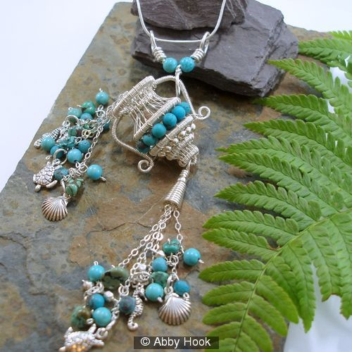 The Water Carrier tassel pendant by Abby Hook