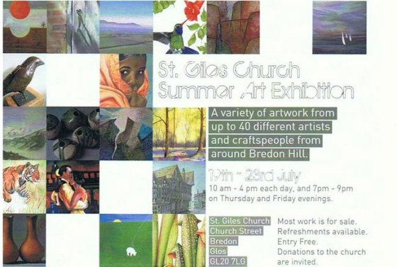 Example of a flyer for St. Giles Church Summer Art Exhibition