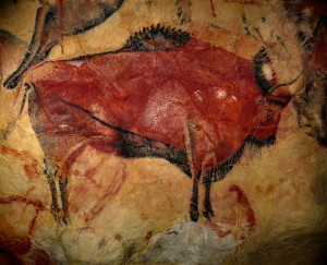 Bison in the Cave of Altamira, Santander, Spain.