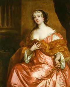 Sir Peter Lely - Portrait of Elizabeth Hamilton (influenced by Van Dyck)