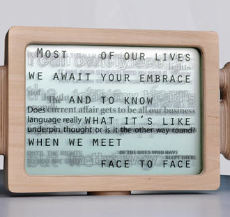Text Box by Russel Jakubowski via ArtWeb