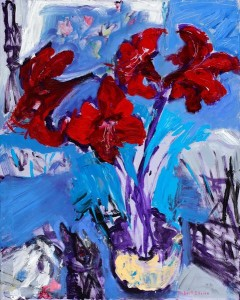622144_red-amaryllis-with-brushes-and-knives