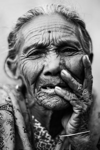 OLD LADY FROM BANDIPUR by Manolo Ty