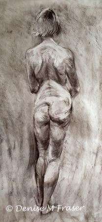 Standing Nude by Denis M Fraser via Artweb