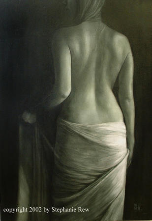 Draped Figure III 2001 by Stephanie Rew via Artweb