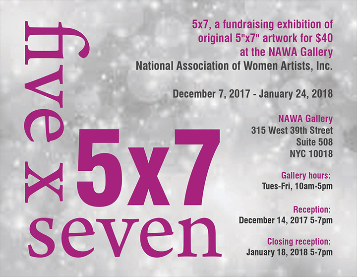 National Association of Women Artists Annual 5x7 Fundraiser