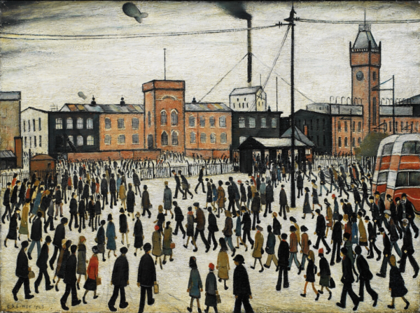 Going to Work - L S Lowry